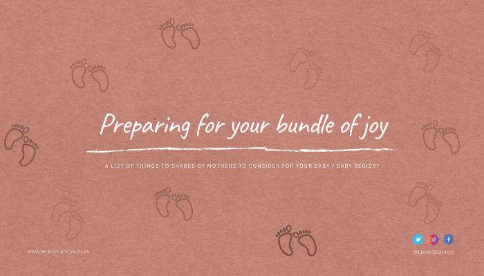 Preparing for your bundle of joy